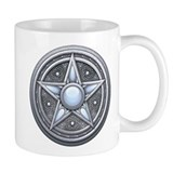 Silver Moonstone Pentacle Coffee Mug