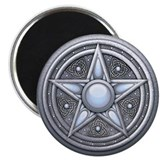"Silver Moonstone Pentacle 2.25"" Magnet (100 pack)"