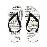 Bon appetit in other language Flip Flops