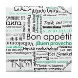 Bon appetit around the world Tile Coaster