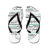 Bon appetit around the world Flip Flops