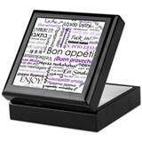 World Foods Dining Etiquette Keepsake Box