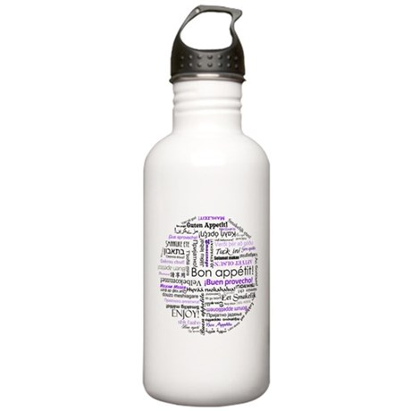World Foods Dining Etiquette Stainless Water Bottl
