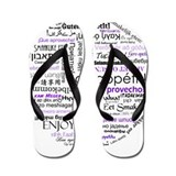 World Foods Dining Etiquette Flip Flops