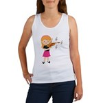Violin Music Girl Women's Tank Top