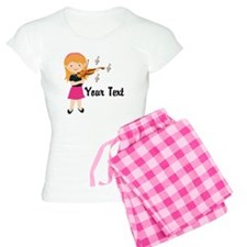Personalized Violin Girl Women's Light Pajamas