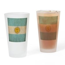 Vintage Argentina Flag Drinking Glass