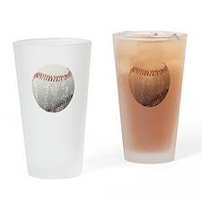 Baseball - Distressed Drinking Glass