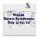 World Down syndrome Day Tile Coaster