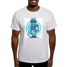 Blue Tiki back T-Shirt