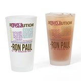 RON PAUL quotes organic Drinking Glass