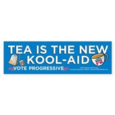 Tea Is New Koolaid (Bumper Sticker)