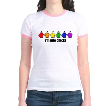 Into Chicks Jr. Ringer T-Shirt