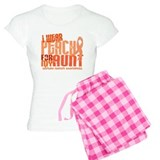I Wear Peach 6.4 Uterine Cancer pajamas