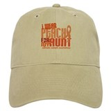 I Wear Peach 6.4 Uterine Cancer Baseball Cap