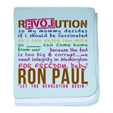 RON PAUL baby & tike baby blanket