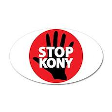 Stop Kony 38.5 x 24.5 Oval Wall Peel