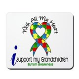 With All My Heart Autism Mousepad