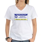 Area 51 Pass Women's V-Neck T-Shirt