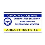 Area 51 Pass 35x21 Wall Decal