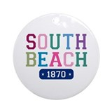 South Beach 1870 Ornament (Round)