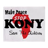 Stop Kony 2012 Throw Blanket
