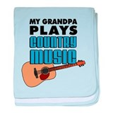 Grandpa Country Music baby blanket