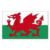 Welsh Red Dragon Rectangle Decal