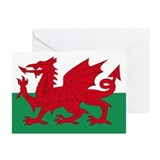 Welsh Red Dragon Greeting Cards (Pk of 10)