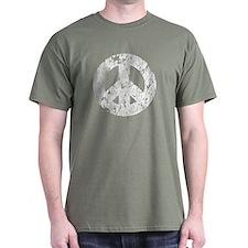 Classic Vintage Peace Black T-Shirt