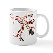 Red & Green Flourish Mug