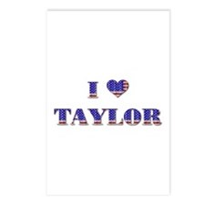 I Love TAYLOR Postcards (Package of 8)