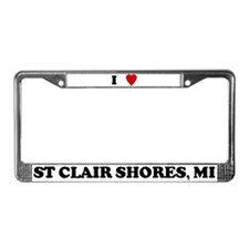 I Love St Clair Shores License Plate Frame