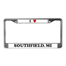 I Love Southfield License Plate Frame