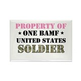 Funny Army fiancee Rectangle Magnet