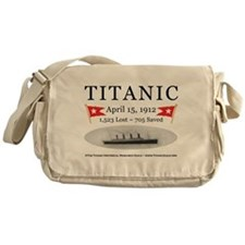 Titanic Ghost Ship (white) Messenger Bag