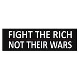 Fight The Rich - Bumper Sticker