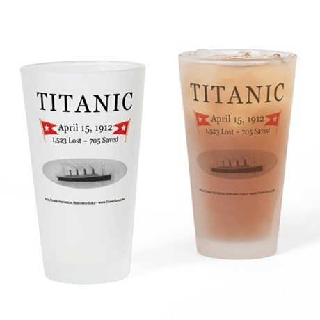 Titanic Ghost Ship (white) Drinking Glass