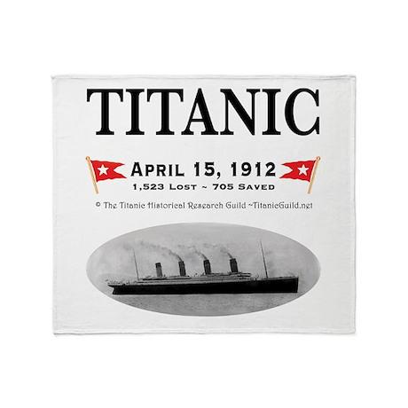 Titanic Ghost Ship (white) Throw Blanket