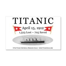 Titanic Ghost Ship (white) Car Magnet 20 x 12