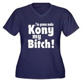 I'm Gonna Make Kony My Bitch Women's Plus Size V-N