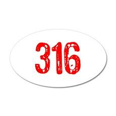 316 38.5 x 24.5 Oval Wall Peel