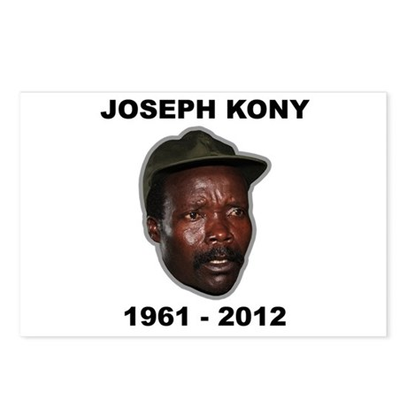 Kony 2012 Obituary Postcards (Package of 8)
