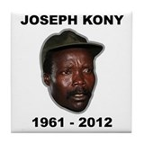 Kony 2012 Obituary Tile Coaster
