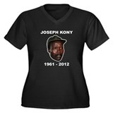 Kony 2012 Obituary Women's Plus Size V-Neck Dark T