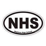 Neptune High School NHS Euro Oval Decal