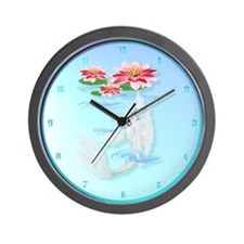 Silver Koi-Pink and Pink Lili Wall Clock