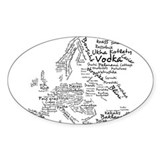 European Food Map Decal