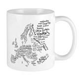 European Food Map Coffee Mug