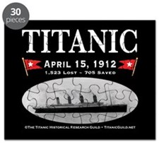 Titanic Ghost Ship (black) Puzzle
